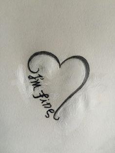 I'm fine/save me ambigram