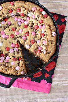 Valentine's Day Skillet Cookie Recipe
