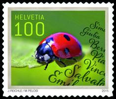 Swiss Special Stamp Ladybird Postshopch Stamps Postage Mail Switzerland SwissPost Nature