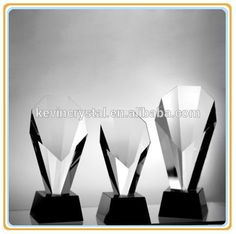 hottest selling royal crystal trophy awards with black base for custom engraving ornament souvenirs