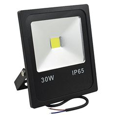 Sunlite LEDF//30W//W LED Security Floodlight HPS HID Replacement Wall Mounted Fixture Outdoor White 5000K Gray Finish