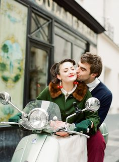 An Amelie and 1950s Inspired Parisian Bride  http://bestdayproductions.com/, shoot curated by http://flyawaybride.com/