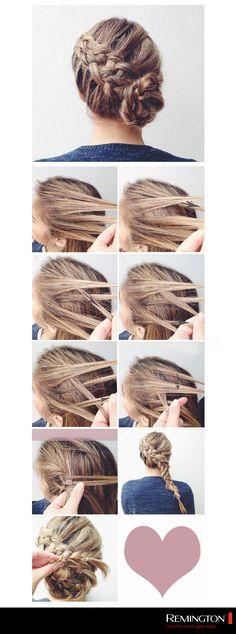 Elabora este DIY y elabora un peinado fabuloso para cualquier ocasión. #hair #hairstyle #braid #DIY #style #woman
