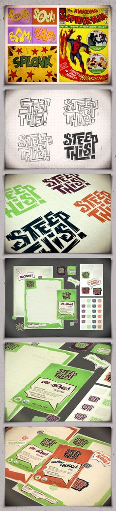 Steep This! tea branding option02 by atomicvibe (via Creattica)