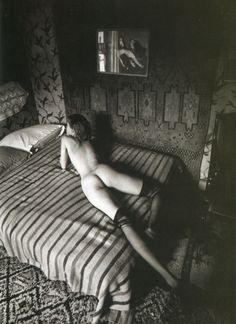 Jeanloup Sieff,Naked woman on a bed lines,Paris,1975