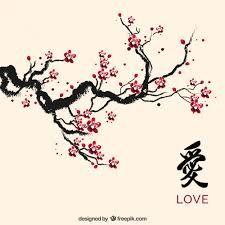 Resultado de imagen para flor de cerezo dibujo blanco y negro