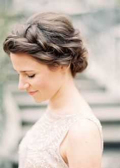 Crown Braid Chignon - hair for a formal christmas party