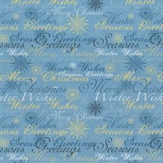 Christmas Wishes Paper blue 8