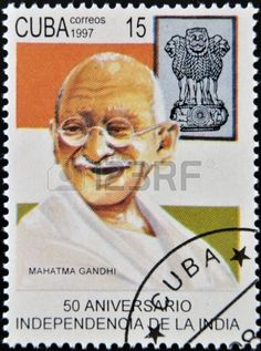 Picture of Mahatma Gandhi was the pre-eminent political and spiritual leader of India. Postage stamp stock photo, images and stock photography. Mahatma Gandhi, Cuba, Simplicity Is Beauty, Postage Stamp Collection, History Of India, Life Form, Vintage Stamps, World Peace, Stamp Collecting