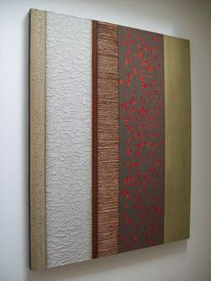 x-large TEXTURED modern abstract painting - original sculpture ART Zen East copper and green