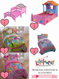 Lalaloopsy Bedroom Furniture and Accessories for Your Little Love's Bedroom ~ Pink Heart String