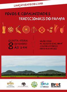 Cartaz divulgação lançamento livro Povos e Comunidades Tradicionais do Pampa