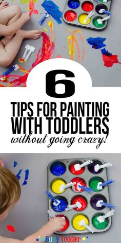 Tips for Painting with Toddlers: 6 tricks for making a successful activity