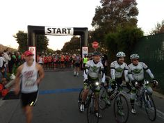 MHM Start line.  Times 7 optional mats in the foreground