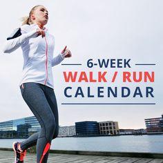 This FREE 6 Week Walk/Run Calendar is a must try! #running #beginningrunning #beginnerrunner