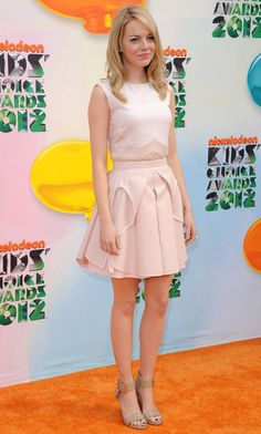 Emma Stone Photos - Nickelodeon's 25th Kids' Choice Awards.USC's Galen Center, Los Angeles, CA.March 31, 2012. - Kids' Choice Awards 2012