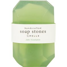Pelle Jade/Eucalyptus Rock Soap - Medium (€8,11) ❤ liked on Polyvore featuring beauty products, bath & body products, body cleansers, fillers, beauty, makeup, green fillers, green and magazine
