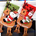 1 UNID Alces Muñeco de nieve de Papá Noel Colgante Del Árbol de Navidad Regalo de Los Niños de Azúcar de Caramelo Bolsa Home Party Festival Ornamento Gota CKG18