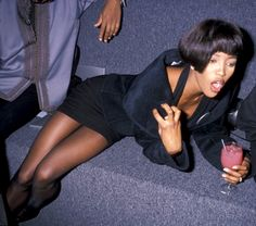 Naomi getting' sauced.