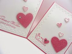 PinkBlingCrafter: Stampin' Up! Language of Love Cards