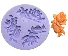 Allforhome(TM) 3 Cavity 5.1cm Mini Flower Silicone Sugar Resin Craft DIY Moulds gum paste flowers Cake Decorating Fondant Mold ** Special  product just for you. See it now! : Bakeware Sets