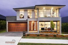 Fachada moderna con grandes ventanas