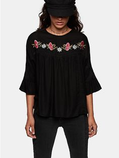 Top, Seven Sisters Crepe blouse - The Sting