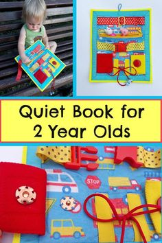 Quiet Book for 2 Year Olds #toddler #quietbook #felt #travel #busybags #soft #affiliate