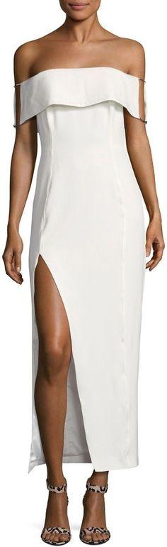 Style Stalker Stylestalker Women's Loreto Off Shoulder Side Slit Dress