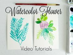 Painting Flowers in Watercolor- videos