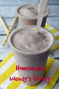 Homemade Wendy's Frosty {Copycat Recipe}