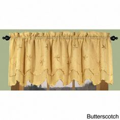 Zurich Vine and Leaf Scalloped Valance | Overstock.com Shopping - Great Deals on Ricardo Valances