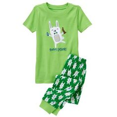 Toddler Boys Leafy Green Hoppy Easter 2-Piece Gymmies® by Gymboree