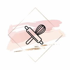 Baking Logo Design, Cake Logo Design, Design Logos, Story Instagram, Instagram Logo, Instagram White, Logo Dulce, Instagram Symbols, Insta Icon