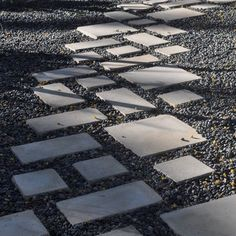 concrete tile path