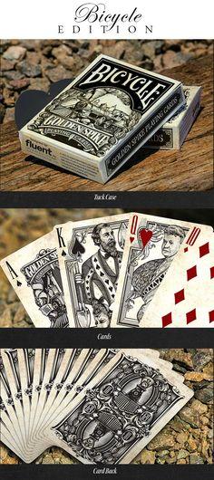 Golden Spike Bicycle® Playing Cards by Jody Eklund — Kickstarter