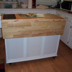 Attrayant Catskill Butcher Block Island Cart With Drop Leaf Intended For Measurements  2000 X 2000 Movable Kitchen Island With Drop Leaf   Whether You Are  Constructin