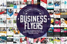 50 Business Flyers Bundle by Psd Templates on @creativework247