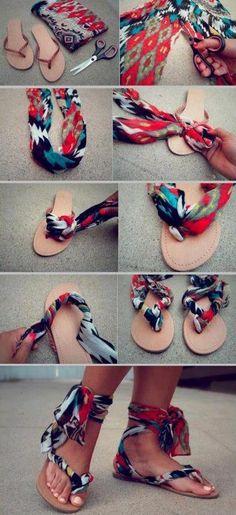 D.I.Y cool flip flops for summer.