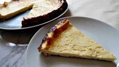 Low Carb Lemon Ricotta Cake on a plate