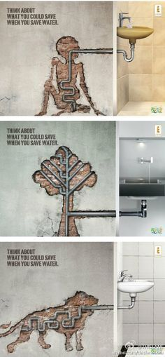 Saving water now for later...Smart.                                                                                                                                                                                 More