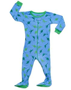 a5e035e4365bf Dino Blue Footed Pajama Months  You ll Love these cute and comfy sleepers  from Leveret! Keep your little ones footsies warm in this full zippered  footed ...