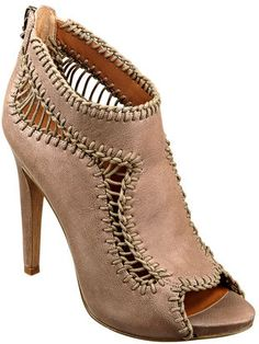 #NineWest                 #Women #Shoes             #jackal #measurements #lacing #peep #bootie #stores #toe #detail #platform #available #closure #zipper #upper #west #style #leather                         JACKAL                    Platform peep toe bootie with lacing detail. Back zipper closure. Leather upper. Measurements: heel 4 1/2 and platform 1/4. This style is available exclusively @ Nine West Stores & ninewest.com.              http://pin.seapai.com/NineWest/Women/Shoes/1183/buy