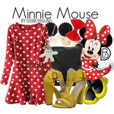 Classic Minnie Mouse outfit with a Valentine's twist | Disney Fashion | Disney Fashion Outfits | Disney Outfits | Disney Outfits Ideas | Disneybound Outfits |