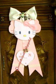 Fiocco nascita Hello Kitty, per informazioni ⇩ http://coccinellecreative.blogspot.it/2013/11/felice-nascita-felice-inizio-vita-con.html