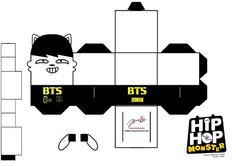 BTS Hip Hop Monster Jimin Papercraft by ill-dope-swag.deviantart.com on @DeviantArt