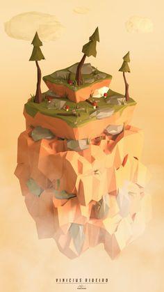 Top Of The Mountain, Vinicius Ribeiro on ArtStation at https://www.artstation.com/artwork/qo9QN