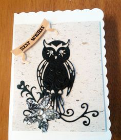 'Owl' - Topper Die from the Tattered Lace range. Available exclusively from hobbycraft.