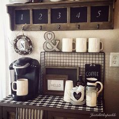 11 Genius Ways to DIY a Coffee Bar at Home | Pinterest | Coffee ...