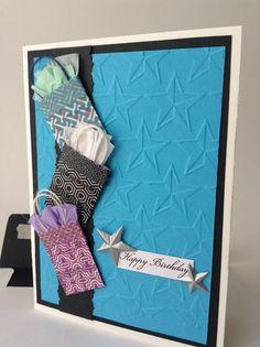 Birthday in the Stars  Blank Birthday Card by MyShiki on Etsy